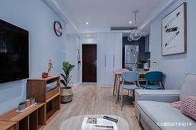 悠雅55平简约小户型客厅装修美图一居现代简约家装装修案例效果图