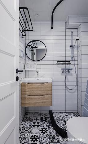 华丽27平简约小户型卫生间设计美图一居现代简约家装装修案例效果图