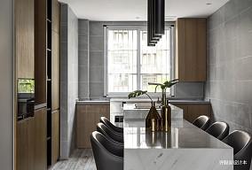 优雅123平现代三居餐厅装修图三居现代简约家装装修案例效果图