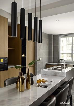 优美82平现代三居餐厅布置图三居现代简约家装装修案例效果图