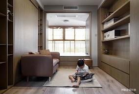 典雅110平现代三居书房美图三居现代简约家装装修案例效果图