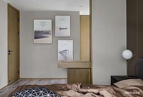 优美91平现代三居卧室装修美图三居现代简约家装装修案例效果图