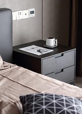 温馨113平现代三居卧室装修案例三居现代简约家装装修案例效果图