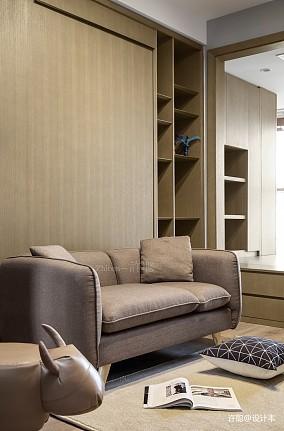 精致86平现代三居书房装修装饰图三居现代简约家装装修案例效果图
