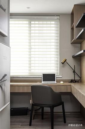 温馨76平现代三居书房实景图三居现代简约家装装修案例效果图