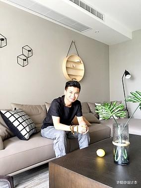华丽88平现代三居客厅装潢图三居现代简约家装装修案例效果图