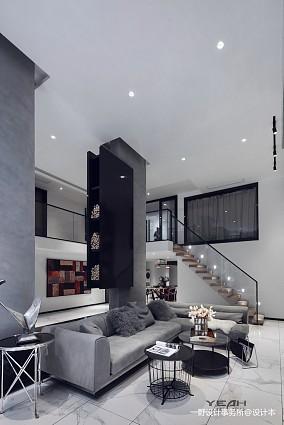 浪漫55平现代复式客厅效果图