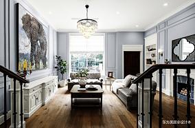 平美式别墅客厅设计图别墅豪宅美式经典家装装修案例效果图
