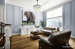 浪漫788平美式别墅客厅布置图别墅豪宅美式经典家装装修案例效果图