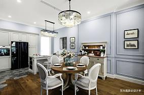 质朴837平美式别墅餐厅布置图别墅豪宅美式经典家装装修案例效果图