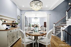 优美576平美式别墅餐厅装修案例别墅豪宅美式经典家装装修案例效果图