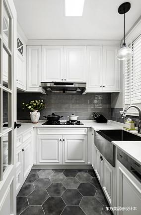 大气711平美式别墅厨房设计案例别墅豪宅美式经典家装装修案例效果图