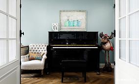 优美510平美式别墅书房装修装饰图别墅豪宅美式经典家装装修案例效果图