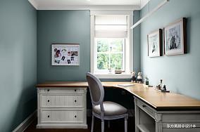 典雅590平美式别墅书房实景图别墅豪宅美式经典家装装修案例效果图