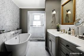 精致273平美式别墅卫生间布置图别墅豪宅美式经典家装装修案例效果图