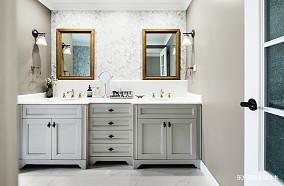 浪漫979平美式别墅卫生间装潢图别墅豪宅美式经典家装装修案例效果图
