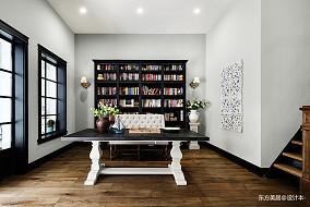 精美381平美式别墅书房装修图别墅豪宅美式经典家装装修案例效果图