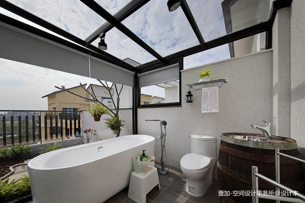 质朴91平现代三居卫生间装修装饰图卫生间马桶现代简约卫生间设计图片赏析