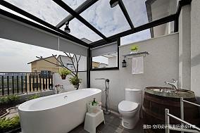 质朴91平现代三居卫生间装修装饰图