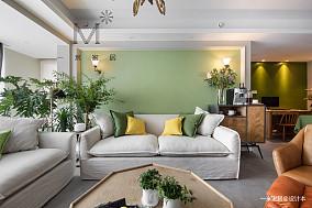 华丽74平美式二居客厅装饰美图二居美式经典家装装修案例效果图