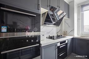 轻奢68平美式二居厨房装饰图片二居美式经典家装装修案例效果图