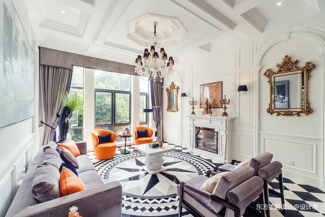 优雅892平法式别墅客厅装修设计图客厅欧式豪华客厅设计图片赏析