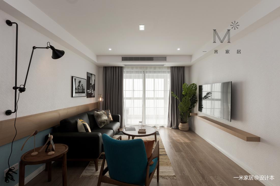 浪漫78平北欧二居客厅装潢图二居北欧极简家装装修案例效果图