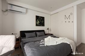 优美78平北欧二居卧室装饰美图二居北欧极简家装装修案例效果图