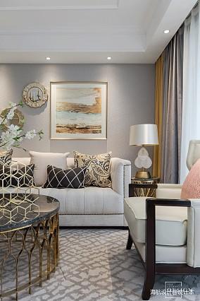 明亮133平美式四居客厅设计效果图