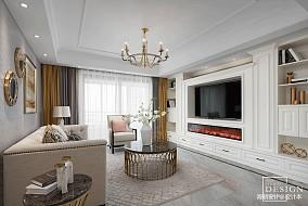 简洁158平美式四居客厅装修效果图