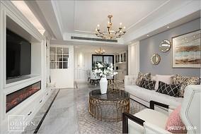 典雅113平美式四居客厅设计美图