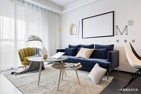 华丽59平现代二居客厅布置图二居现代简约家装装修案例效果图
