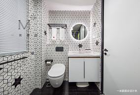 悠雅59平现代二居卫生间设计图