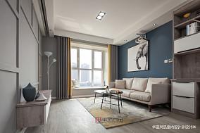 华丽88平北欧三居客厅设计效果图
