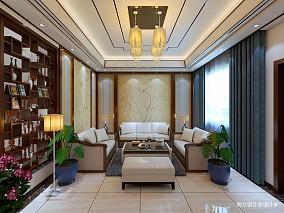 质朴360平中式别墅客厅装饰美图