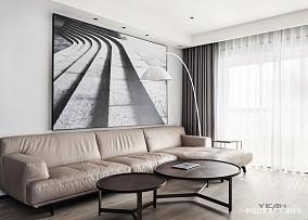 现代风格三居背景墙设计