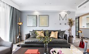 精美143平北欧二居客厅装修设计图二居北欧极简家装装修案例效果图