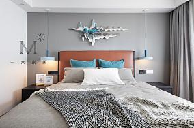典雅63平北欧二居客厅设计案例二居北欧极简家装装修案例效果图