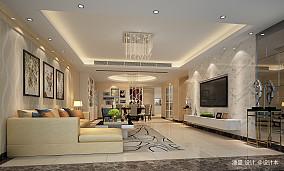 质朴230平现代别墅客厅装修效果图