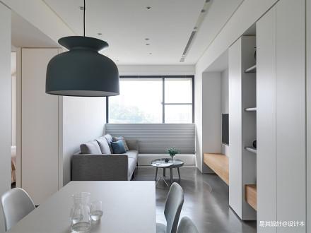 优雅60平北欧二居客厅图片大全二居北欧极简家装装修案例效果图