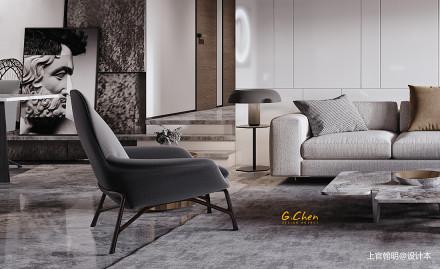 优美77平现代复式客厅设计美图