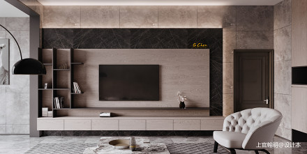华丽57平现代复式客厅效果图欣赏