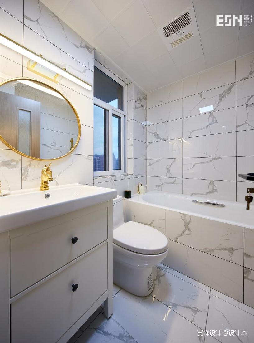 质朴111平现代三居卫生间布置图卫生间马桶现代简约卫生间设计图片赏析