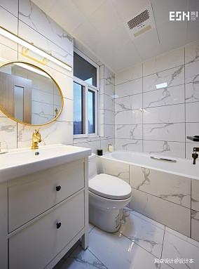 质朴111平现代三居卫生间布置图