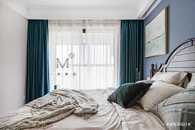 精美82平美式二居装潢图二居美式经典家装装修案例效果图