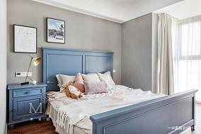 大气85平美式二居客厅效果图片大全二居美式经典家装装修案例效果图