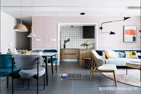 轻奢60平混搭二居客厅装饰图片二居潮流混搭家装装修案例效果图