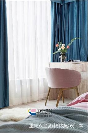 优美73平混搭二居卧室装修效果图二居潮流混搭家装装修案例效果图