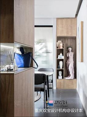 优美88平混搭二居玄关装修美图二居潮流混搭家装装修案例效果图