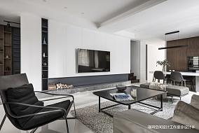 大气43平现代复式客厅效果图